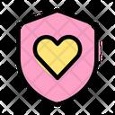 Heart Shield Security Shield Secure Shield Icon