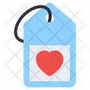 Heart Tag Love Tag Heart Card Icon