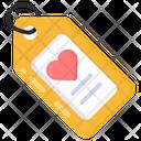 Romantic Tag Heart Tag Love Tag Icon