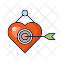 Heart Target Love Icon