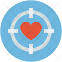 Heart Target Crosshair Icon