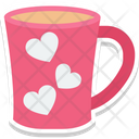 Heart Teacup Passion Saucer Icon