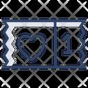 Heart Ticket Love Ticket Voucher Icon