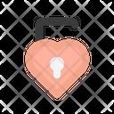 Heart Unlock Love Heart Icon