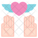 Heart Wing Love Care Icon