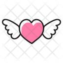 Heart Wing Flying Heart Relationship Icon