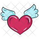 Heart Wings Flying Heart Relationship Icon