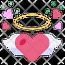 Angel Heart Wings Heart Icon