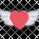 Heart Wings Heart Love Icon