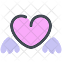 Heart Valentines Wings Icon