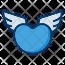 Heart Wings Wings Romantic Icon