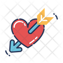 Heart With Arrow Heart Arrow Icon