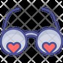 Heart With Glasses Eyeglasses Eyeshade Icon