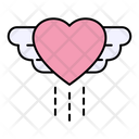 Heart With Wings Heart Wings Icon