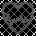 Heartbeat Ecg Cardiology Icon