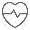 Heartbeat Pulse Cardiology Icon
