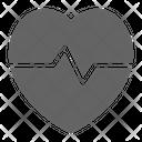 Heartbeat Pulse Cardiology Icon