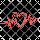 Heart Heartbeat Cardiograph Icon
