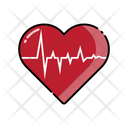 Heartbeat Heart Medical Icon