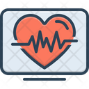 Heartbeat Life Calligraphy Cardio Heartbeat Cardiology Ehealth Healthcare Heart Pulse Monitoring Icon