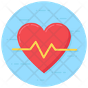 Lifeline Heart Beat Impulses Icon