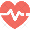 A Blood Pressure Heartbeat Heart Pulse Icon