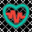 Heart Heartbeat Cardio Training Icon