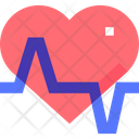 Heartbeat Cardiology Health Icon
