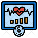Heartbeat Heart Wave Icon