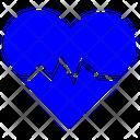 Heartbeat Stress Heart Rhythm Heartbeat Icon Icon