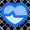 Heartbeat Heart Analyze Icon