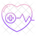 Heartbeat Heart Health Cardiogram Icon