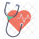 Heartbeat Pulse Stethoscope Icon