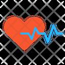 Heartbeat Care Love Icon