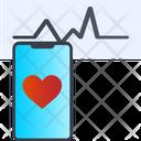 Heartbeat Measuring App Icon