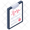 Heartbeat Report Ecg Report Medical Report Icon