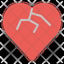 Heartbreak Heart Breakup Icon