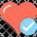 Heartcare Tick Love Icon