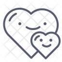 Hearts Couple Love Icon