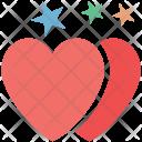 Hearts Stars Sign Icon