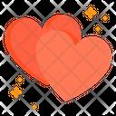 Love Heart Pair Heart Pair Romantic Icon