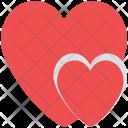 Hearts Design Sign Icon