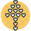 Hearts Decorative Wall Icon