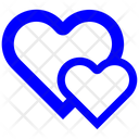 Two Hearts Two Hearts Icon Love Icon