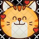 Hearts Emoticon Cat Icon