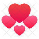 Hearts Love Romantic Icon