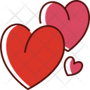 Hearts Romantic Romance Icon