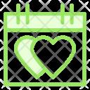 Hearts Calendar Love Icon