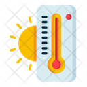 Heat High Temperature Thermometer Icon