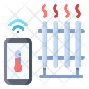 Heater Electronic Temperature Icon